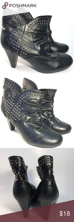 Madden Girl Studded Ankle Booties size 7.5 Madden Girl Studded Ankle Booties size 7.5 Soles look unworn  Small imperfection as pictured Madden Girl Shoes Ankle Boots & Booties