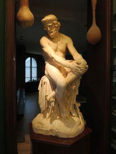 Ferdinand Taluet (1821-1904) : Empédocle. Plâtre (Salon de 1875). Philosophe Grec.  Peintures des Musées de France: BEAUFORT-en-Vallée