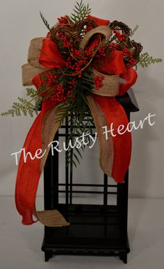 Valentine Lantern Swag by TheRustyHeart on Etsy