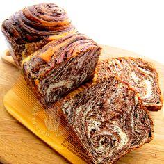 Super soft chocolate marble bread