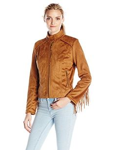 French Connection Women's Faux Suede Jacket With Fringe Sleeves Review