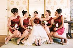 Today I have another gorgeous fall wedding to share captured by Walter Wilson Studios. Alyson & Jason celebrated their wedding day at the exquisite Darlington Apple Red Wedding, Autumn Wedding, Wedding Bridesmaid Dresses, Bridesmaid Bouquet, Red Bridesmaids, Wedding Bouquet, Wedding 2015, Dream Wedding, Wedding Things