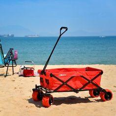 Ollieroo Outdoor Utility Wagon Folding Collapsible Garden Beach Shopping Cart Best Wagons, Folding Wagon, Beach Wagon, Pull Wagon, Beach Cart, Hand Cart, Wheelbarrow Garden, Best Led Grow Lights, Karts
