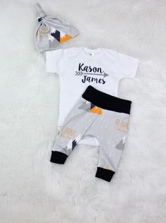 b81adf8d34c5 baby boy coming home outfit personalized newborn outfit take home  set organic cotton