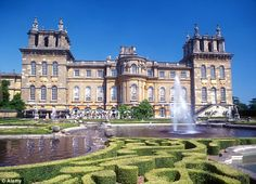 Birthplace of Sir Winston Churchill - Blenheim Palace England. Traveled here with friends in 2005.