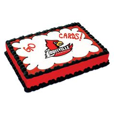 University of Louisville Cardinals Edible Image Cake Topper. (Discontinued - No longer available)