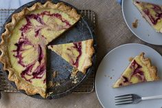 Buttermilk pie is a traditional Southern dessert, and this raspberry addition adds a pretty element and flavor.