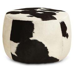 Stockholm poef delikat wit zwart koeienhuid stockholm en poef - Sofa zitplaatsen zwarte ...