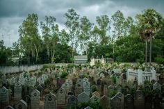 August 15, 2012 – Chau Doc (Vietnam). A view of the Cham cemetery of Chau Doc. © Thomas Cristofoletti / Ruom