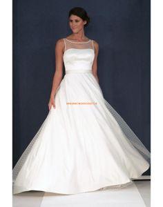 Augusta Jones 2013 Einfache Schlichte Hochzeitskleider aus Softnetz