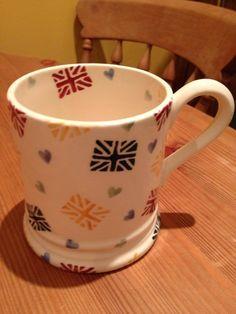 Emma Bridgewater 'Polka Union Jack' Studio Special Pint Mug for Collectors Day 2012 Emma Bridgewater, Stoke On Trent, Union Jack, Tea Cups, Pottery, Plates, Ceramics, Mugs, Tableware