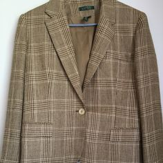 Ladies Ralph Lauren Tweed Blazer Fabulous tweed pattern with lined interior. ENC Ralph Lauren Jackets & Coats Blazers