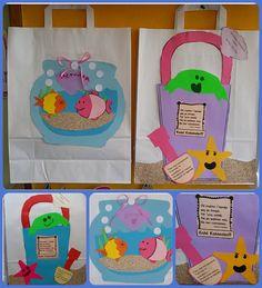 ...Το Νηπιαγωγείο μ' αρέσει πιο πολύ.: Oι σακούλες μας θα γεμίσουν με όνειρα... Και θα είναι πολλά...Για να μη μας τελειώσουν! Puppet Crafts, Summer Crafts, Puppets, Art For Kids, Kindergarten, Preschool, Lunch Box, Paper Bags, Ideas