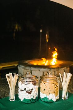 S'mores Bar, Magnolia Plantation Carriage House Wedding//PTT - add your own special touches/favorite foods bar for an interactive activity for your guests
