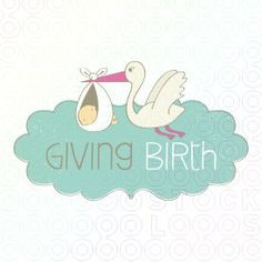 Giving Birth logo #stocklogos #logosale