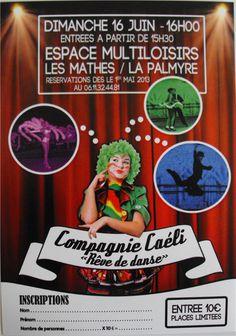 Cyril ROUGER présente Rêve de danse par la Compagnie Caéli à 16h le 16 juin 2013 à Les Mathes/La Palmyre / Charente-Maritime