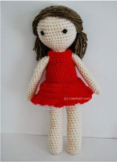 Free Crochet Patterns and Designs by LisaAuch: Free Crochet Amigurumi Doll Pattern (Basic Crochet Doll Pattern)