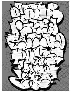 Graffiti Alphabet Styles, Graffiti Lettering Alphabet, Graffiti Names, Graffiti Words, Tattoo Lettering Fonts, Best Graffiti, Graffiti Wall Art, Graffiti Tagging, Graffiti Designs