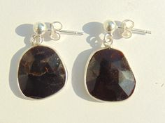 Earrings - Tourmaline and Silver 925 Length: approx 2.5 cm Weight approx 2.5 g / piece by FantasyStones on Etsy
