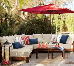 This is the colors and feel that I want outside my home. An outdoor summer room. Swede Dreams: Decor