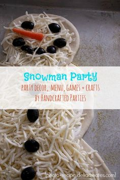 snowman pizza - for the kids