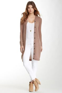 Long Knit Cardigan it is all I want. Style Outfits, Fall Outfits, Casual Outfits, Cute Outfits, Fashion Outfits, Fashion Trends, Passion For Fashion, Love Fashion, Long Knit Cardigan