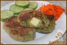 Чечевичные зразы с тофу