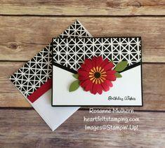 Stampin Up Daisy Punch Birthday Card Idea -Rosanne Mulhern Heartfelt Stamping