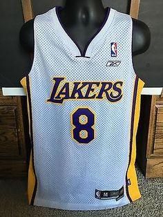 004ea31e352 ... VINTAGE LOS ANGELES LAKERS 8 KOBE BRYANT NBA JERSEY by Reebok MENS SIZE  Medium