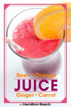 Make a fresh fruit and vegetable juice complete with beets, oranges, carrots and ginger. Orange Carrot Juice, Carrot And Ginger, Fresh Ginger, Healthy Juices, Healthy Smoothies, Healthy Foods, Juice Flavors, Juice Recipes, Fresh Fruits And Vegetables