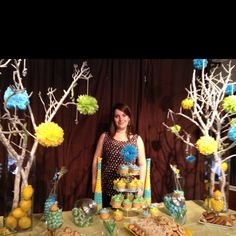 Baby Shower ideas!!! Theme colors lime green,turquoise & yellow...