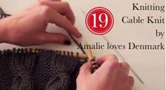 Amalie loves Denmark Stricken lernen Zopfmuster Video