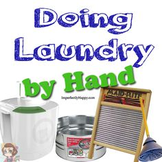 Doing Laundry by Hand via ImperfectlyHappy.com