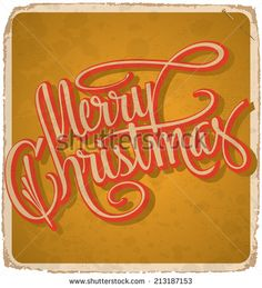 MERRY CHRISTMAS hand lettering -- handmade calligraphy, grunge effect in separate layer, vector (eps10) - stock vector #download #stock #StockImages #microstock #royaltyfree #vectors #calligraphy #HandLettering #lettering #design #letterstock #silhouette #decor #printable #printables #craft #diy #card #cards #label #tag #sign #vintage #typography