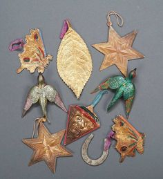 Antique Dresden ornaments.