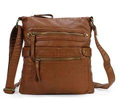Scarleton Casual Double Zipper Crossbody Bag H182004 - Brown - http://freebiefresh.com/scarleton-casual-double-zipper-crossbody-bag-review-3/