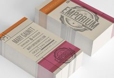 business cards for Emporium Pies designed by Foundry Co.