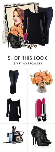 """look156"" by francitaeg ❤ liked on Polyvore featuring Old Navy, New Growth Designs, Guerlain, Lancôme, Alexander McQueen and Versace"