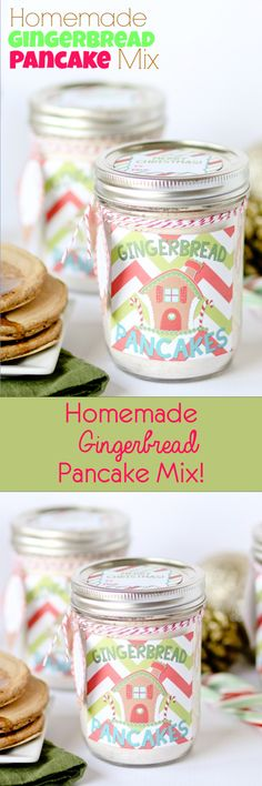 Homemade Gingerbread Pancake Mix (with free printables) Perfect for gifting!!
