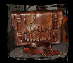 Leather laptop case by ~Lagueuse on deviantART