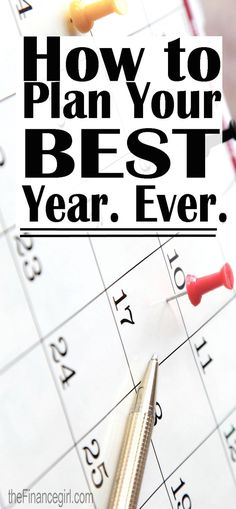 A step by step guide to planning your best year ever. | Financegirl