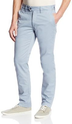 $132, Light Blue Chinos: Ted Baker Slim Chino Trouser. Sold by Amazon.com. Click for more info: http://lookastic.com/men/shop_items/19921/redirect