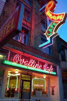 Ovaltine Cafe, Vancouver. Classic old cafe with that great neon sign.