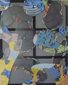 Christian Bonnefoi, Eurêka a de la suite dans les idées: Eureka VIII, 2010-11, Collage et peinture sur tarlatane, 250 x 200 cm