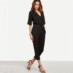 700e6455891f Ravishing Belted Waist Romper Half Sleeves