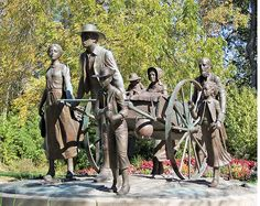 Handcart Mormon Trail | Artist: Franz Johansen | Year: 1998 | Where: Florence, Nebraska | Why You Need to See it: With their feet barely touching the ground, this family of handcart pioneers speaks of the anticipation and faith of the pioneers who trekked west to Zion in the Rocky Mountains.