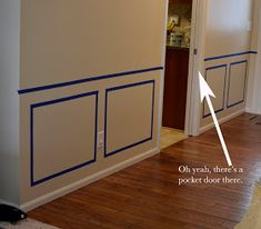 Bartons Blabbing: Fablous Foyer here we come! Diy Waynes Coating, Waynes Coating Dining Room, Installing Wainscoting, Painted Wainscoting, Wainscoting Hallway, Luxury Homes Interior, Luxury Home Decor, Home Room Design, Home Interior Design