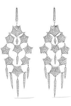 Stephen Webster | Stargazer 18-karat white gold diamond earrings | NET-A-PORTER.COM