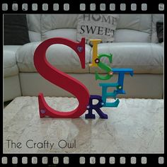 Name Letters, 3 Letter, Sweet Home, Symbols, Hand Painted, Colours, Lettering, Crafty, Facebook