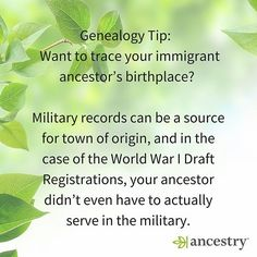 Here's another way to find country of origin.  #ancestry #genealogy #familyhistory #familytree #origins #homeland #heritage #roots #family #ancestors #genealogytips #tips